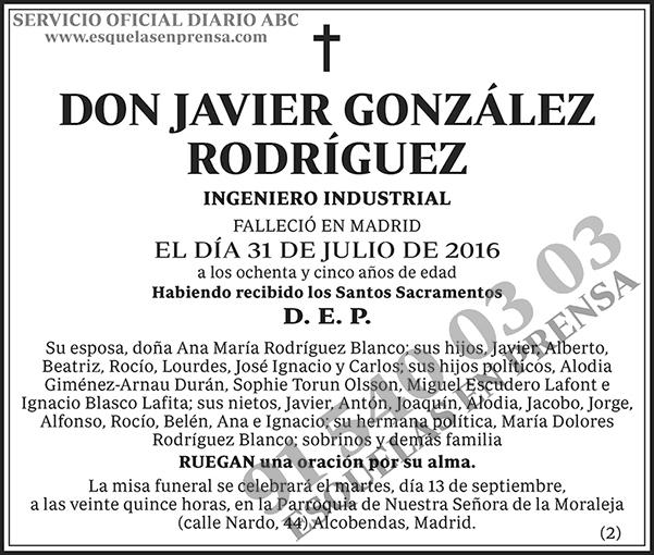 Javier González Rodríguez